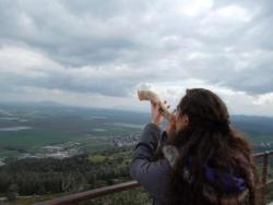 Natalie at Watch Tower - Shofar